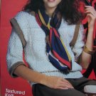 USA 1 Cent S&H Lily Knitting Pattern Misses Textured KNit Sweater S M L XL
