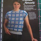 1 Cent USA S&H Vintage 80's Caron Yarn Crochet Pattern Misses Pullover SS Sweater