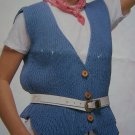 Misses Knitting Pattern Casual Cotton Vest Leaflet 8105