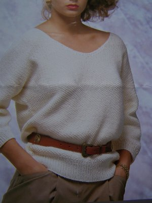 50 Cent USA S&H Vintage Lady's Knitting Pattern Seed Stitched Pullover Sweater