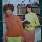 Vintage 1960's Knitting Patterns Book Classic Sweaters Raglan Sleeves Womens Sizes