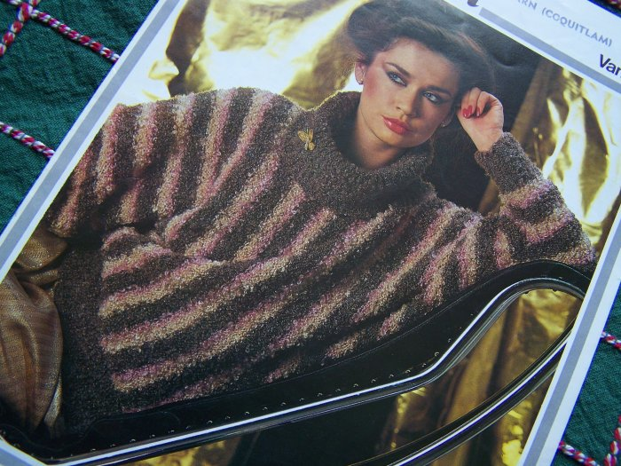 Vintage Hayfield Vanity Fair Knitting Pattern Lady's Cowl Neck Sweater 1704