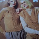 2 Vintage Jaeger Hand Knitting Patterns Lace Panel & Cardigan Sweaters