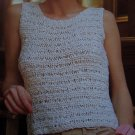 Vintage Lister Handknitting Misses Summer Tank Top Knitting Pattern S M L XL