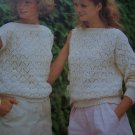 Vintage Jarol Womens Sleeveless & Long SLeeve Slash Neck Sweaters Knitting Patterns