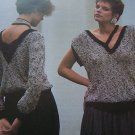 Vintage Knitting Patterns Misses V Neck Pullovers with Long Sleeves Or Sleeveless