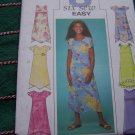 Uncut 6 Easy Girls Plus Size Easter Summer Flowing Dress 10 ½ - 16 ½ Sewing Patterns 4123