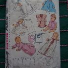 Vintage Baby Layette Sewing Patterns 4507 Dress Coat Sacque Bonnet Slips Bibs