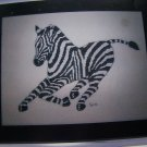 Vintage 80's Cross Stitch Chart Pattern Running Zebra Fantasy Menagerie Collection