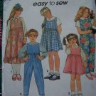 USA 1 Cent S&H Toddler Girls 2T Jumper Dress Jumpsuit Blouse Sewing Pattern 8200