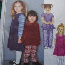 Girls 4 5 6 Sewing Pattern Jumper Dress Ruffle Hem Top Elastic Waist Pants 3356