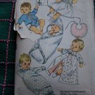 Vintage 1960's Newborn - 3 Months Baby Layette Sewing Pattern Infant 8066