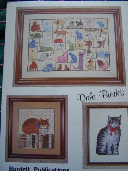 1 Cent USA S&H Vintage Cross Stitch Book Country Cats Embroidery Pattern Kittens