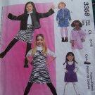 New Girls 6 7 8 Jumper Dress Unlined Jacket Skirt McCall's Sewing Pattern 3358