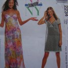 Jrs Teen Sewing Pattern Dress or Slipdress Short Long 9 10 11 12 13 14 Empire Surplice Bodice 2234