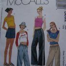 Girls Sewing Pattern 7 8 10 Summer Tops Drawstring Shorts or Pants Side Pockets 3692 McCall's Uncut
