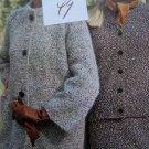 1960's Vintage Knitting Pattern Retro Womens Winter Suit Coat & Hat 2591