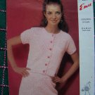 SALE Vintage Misses Knitting Pattern Summer Suit Short Sleeve Jacket Skirt Spring 2699