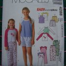 McCall's Easy Girls 3 4 5 6 Sewing Pattern Wardrobe Shirts Dress Shorts Pants 4288