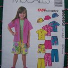 Toddler Girls Boys Summer Wardrobe Sewing Patterns Tops Capri Pants Shorts Hat 4493