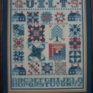 $1 USA S&H Vintage Janlynn Quilt Sampler Cross Stitch Pattern Leaflet 16 Quilts