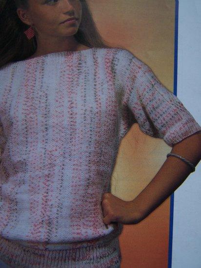 Misses Sirdar Country Style Double Knit Pattern Short Sleeve Top Knitting 6689