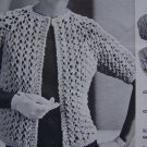 1 Cent USA S&H Vintage Quick Knit Mod Jacket Retro Knitting Leaflet Pattern 871