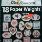 18 Cross Stitch Patterns Leaflet 413 Paper Weights Needlework Easy 1 Nighters
