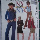 Juniors 3/4 5/6 7/8 9/10 Sewing Patterns Western Shirts Top Pants Skirt Teen 3643