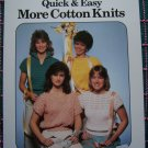 Vintage 80's Forevers Quick & Easy Ladies Knitting Patterns Pullover Cotton Tops