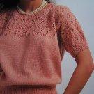 Vintage Sunbeam Lady's Short Sleeved Sweater with Lace Yoke Knitting Pattern 1299
