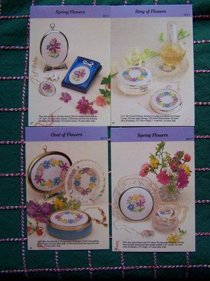 USA 1 Cent S&H 4 Cross Stitch Patterns Set 9 Springtime flowers