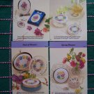 USA 1 Cent S&H 4 Cross Stitch Patterns Set 9 Springtime flowers