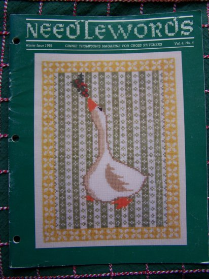 1 Cent USA S&H  Vintage Needlewords Winter 1986 Pattern Magazine Cross Stitch