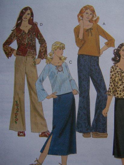 Easy McCall's Sewing Pattern 4180 Girls 12 14 16 Shirts Pants Skirt Wardrobe