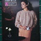 Vintage Fleur De Lis Mohair 4 Womens Sweaters Knitting Patterns Booklet 221