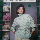 Retro Finn Time Knitting Patterns Misses 5 Sweaters Patterns Leaflet 28
