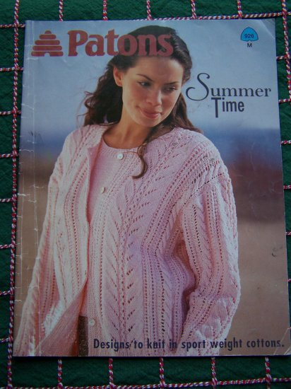 Misses Summer Knitting Patterns Tops Vest Sweaters Cardigans 926