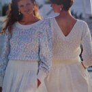 Patons Misses Summer Beach Belle V Back Pullover Sweater Knitting Pattern 4430