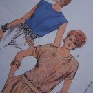 Ladies Retro Summer Tops Sewing Patterns Ribbing Bands 1624 Sz XS S M L