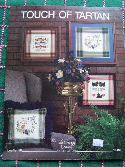 80's Cross Stitch Leaflet Stoney Creek Touch of Tartan Trout Scotty Dogs Lifetime in Mini