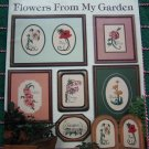 1980's Cross Stitch Embroidery Floral Charts 12 Patterns Flowers from my Garden Book 66