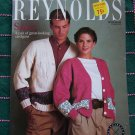 Vintage 80's Mans Womans Cardigan Sweaters Knitting Patterns Reynolds Leaflet 433