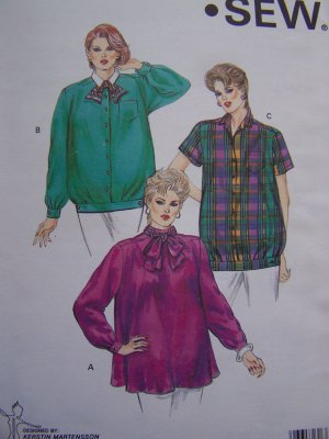 Vintage 80's Maternity Sewing Patterns Tops Shirts with Adjustable Waistband 1504