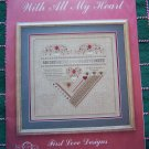 Needlepoint Pattern With All My Heart Shaped Sampler Bk 101