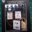 Folk Art Cross Stitch 3 Pictures A Sampling of Tradition Creative Women Patterns Leaflet # 3