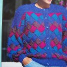 4 Vintage Hayfield Knitting Patterns 3 Summer Short Sleeve Sweaters 1 Cardigan Book 6003