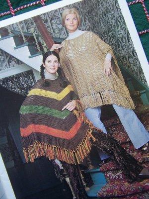 Vintage Haripin Crochet Patterns Mini Midi Maxi Skirts Ponchos Baby Afghan Pillows Book 7155