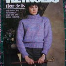 Reynolds Fleur De Lis 3 Misses Sweaters & Lacy Vest Knitting Patterns Leaflet 253