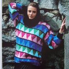 Vintage Filatura Di Crosa Knitting Pattern Ladies Pullover Patterned Sweater Mod 1309